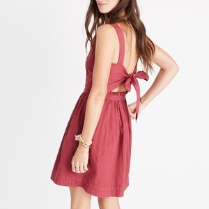 Madewell Apron Bowback Dress